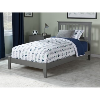 Mission Twin Traditional Bed in Atlantic Grey