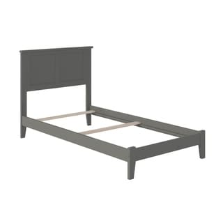 Madison Twin XL Traditional Bed in Atlantic Grey