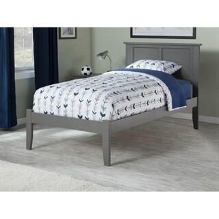 twin platform bed frame. Madison Atlantic Grey Twin Platform Bed With Open Footboard Frame