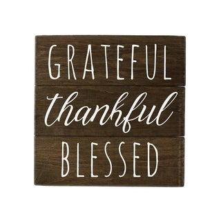 Grateful Sign Wall Decor with Thankful Blessed