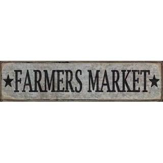 "Farmers Market Retro Vintage Tin Bar Sign Country Home Decor 15.75"" x 4"""
