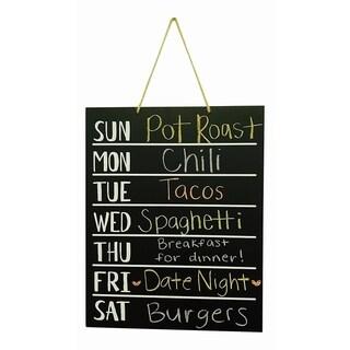 Wood Chalkboard Weekly Menu Meal Planner Wall art