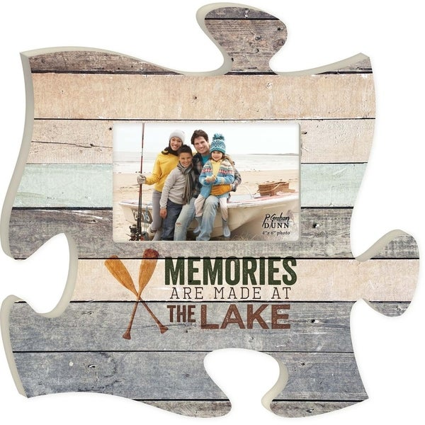 Shop Memories Are Made At The Lake Wood Look 12 X 12 Wood Puzzle