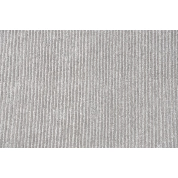 Pasargad Home Edgy Collection Hand Tufted Bamboo Silk Wool Rug Overstock 19864719 Silver 8 X 10
