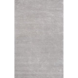 """Edgy Collection Hand-Tufted Bamboo Silk & Wool Rug (8' 9"""" x 11' 9"""") - 9' x 12'"""