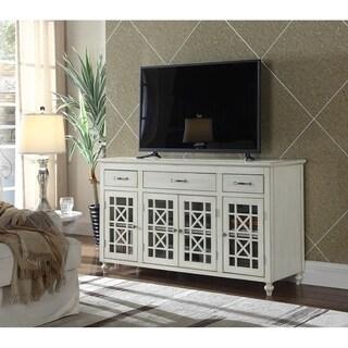 """Ladera 60"""" White TV Stand Buffet"""