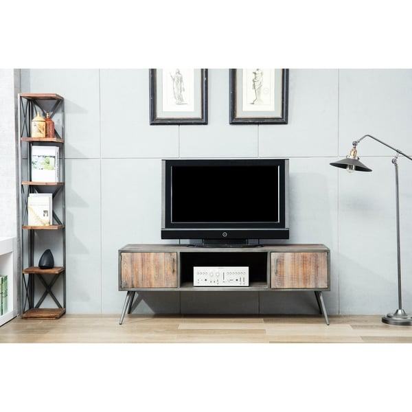 "Hanover 60"" Antique Gray Media Console - 62 inches"