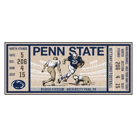"""Penn State Ticket Runner 30""""x72"""""""