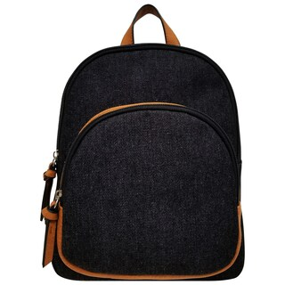 Bueno of California Black Denim Canvas Backpack