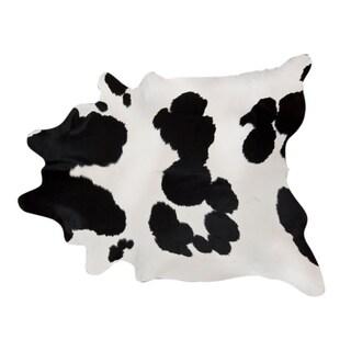 Pergamino Black And White Cowhide Rug XXL
