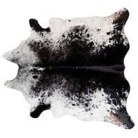 Pergamino Black Salt And Pepper Cowhide Rug XL - Black/White