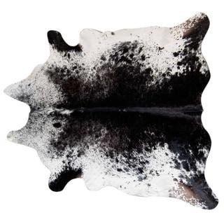 Pergamino Black Salt And Pepper Cowhide Rug XL