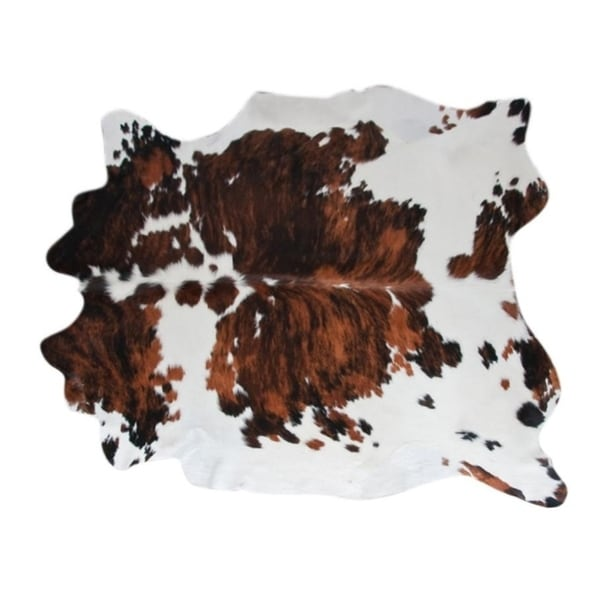 Shop Pergamino Tricolor Cowhide Rug L Free Shipping
