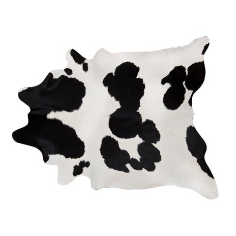 Pergamino Black And White Cowhide Rug Large