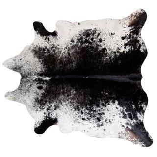 Pergamino Salt and Pepper Black/Whie Cowhide XXL Rug (6' x 8')