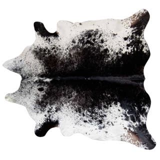 Pergamino Black Salt And Pepper Cowhide Rug XXL - N/A