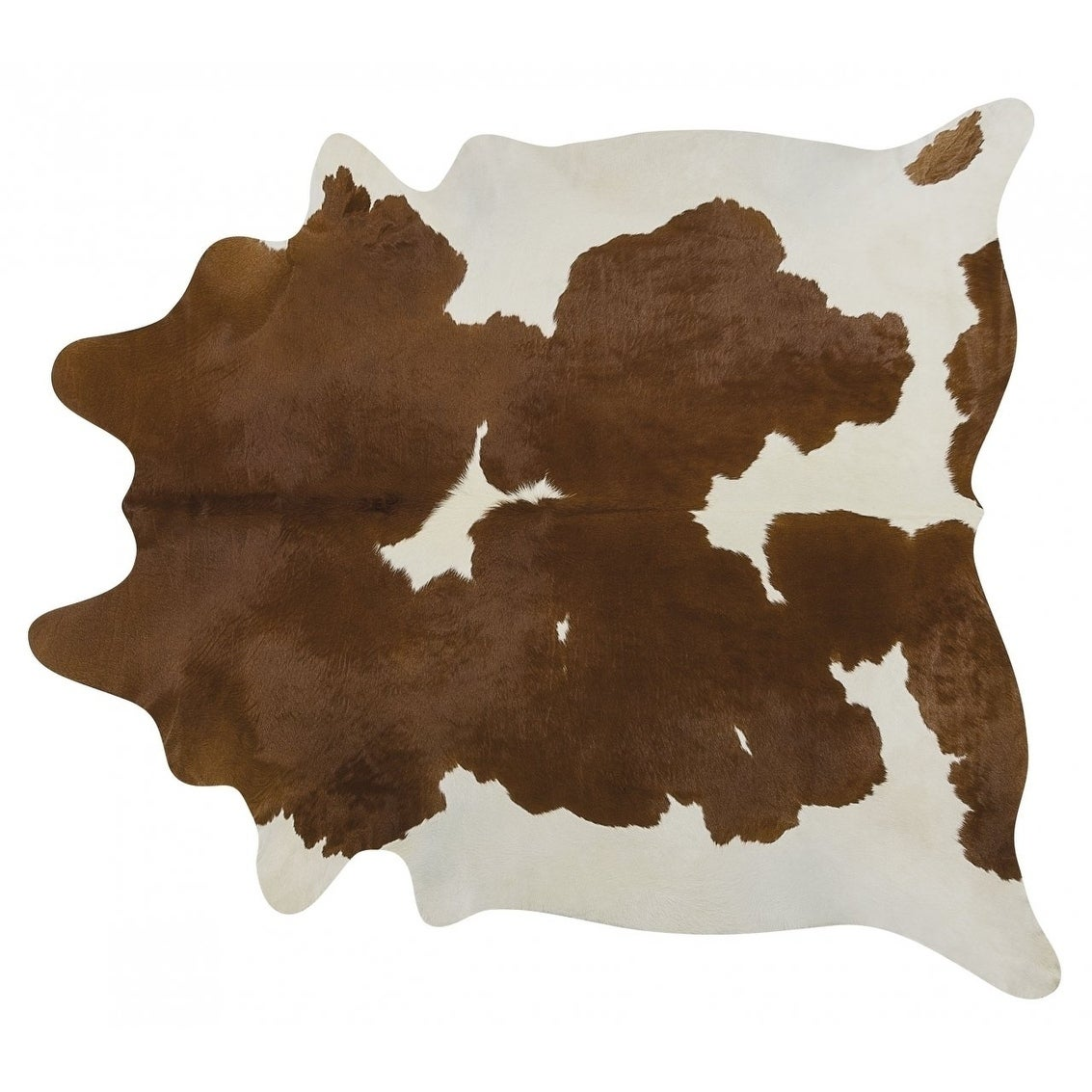 Pergamino Brown And White Cowhide Rug XXL - N/A (N/A - brownwhite)