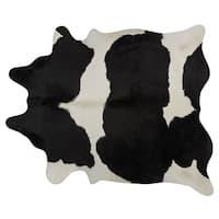 Pergamino Black/White Cowhide XL Rug - 6' x 7'