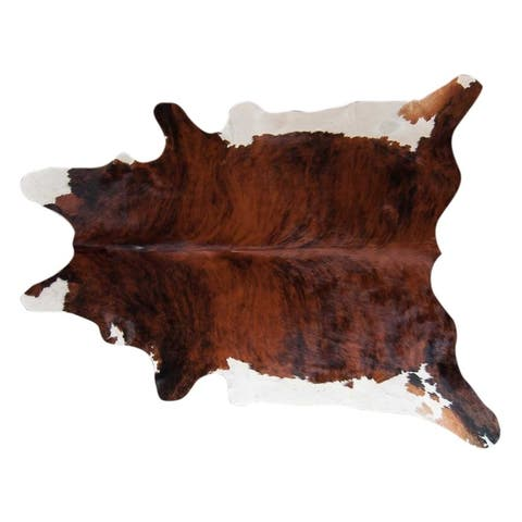 Pergamino Brindle White Belly Cowhide Rug Large