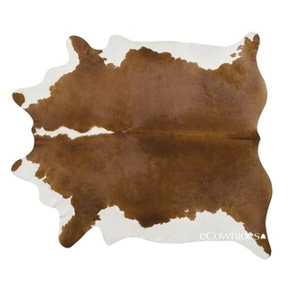 Pergamino Hereford Cowhide Rug Large - Brown/White