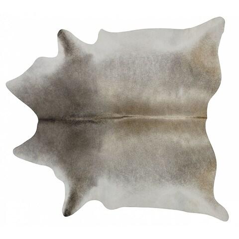 Pergamino Grey Palomino Cowhide Rug Large