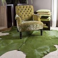 Pergamino Green Cowhide Rug