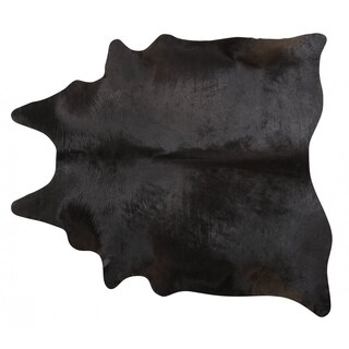 Pergamino Black Cowhide Rug Large