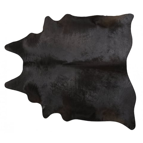 Pergamino Black Cowhide Rug Large
