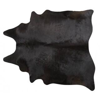 Pergamino Black Cowhide Rug XLarge