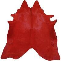 Pergamino Red Cowhide Rug
