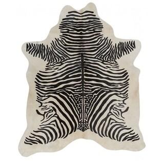 Pergamino Zebra Spine Cowhide Rug - Black/Off White