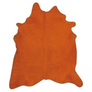 Pergamino Orange Cowhide Rug