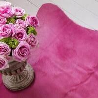 Pergamino Pink Cowhide Rug (6' x 7')