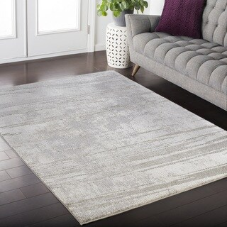 Ada Twilight Collection Gray Area Rug (5' x 8')