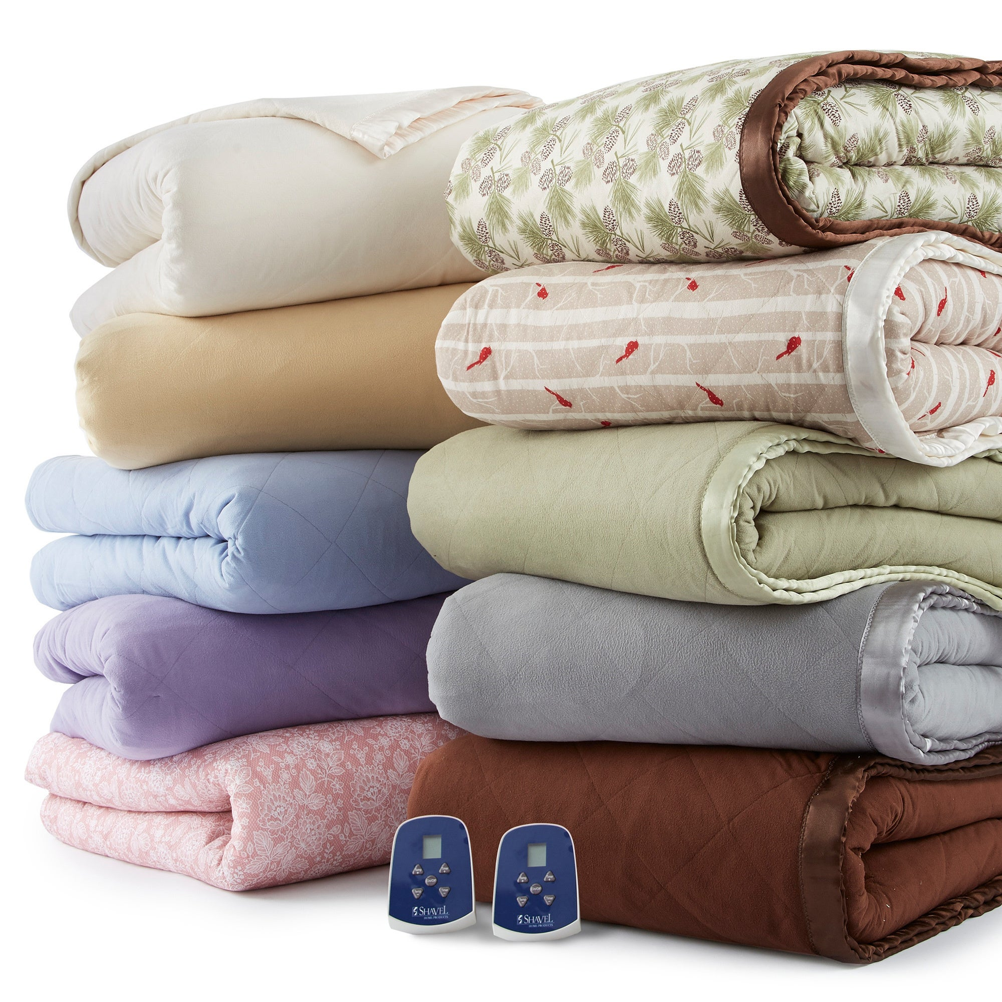 NO BRAND Quilted Micro Flannel Electric Heated Blanket Fu...