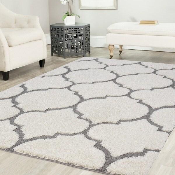 Artz Moroccan Platinum Shag Area Rug (8x10')