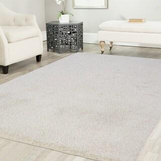 Artz Platinum Shag Area Rug Solid White (8'x10') - 7'10 x 10'2