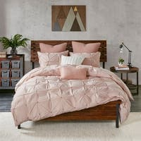 INK+IVY Masie Blush Cotton Duvet Cover Mini Set