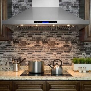 "AKDY RH0158 48"" Stainless Steel Wall Mount Range Hood Touch Control Cooking Fan"