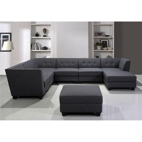 79838a655de9 ... Best Master Furniture 3 Pieces Tufted Living Room Set: Shop Best Master  Furniture 7 Pieces