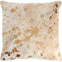 Pergamino Gold Metallic Cowhide Pillows Case
