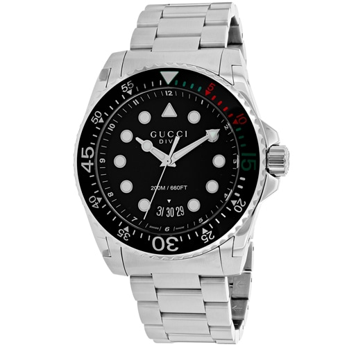 478f3f677ad Shop Gucci Men s YA136208 Dive Watches - Free Shipping Today - Overstock -  19873688