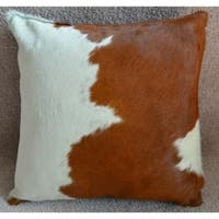 Pergamino Brown and White Cowhide Pillows Case - Brown/White
