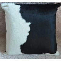 Pergamino Black and White Cowhide Pillows Case