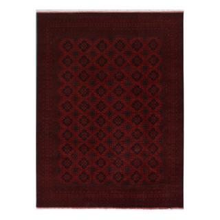 Khal Muhammadi Garish Jarod Red/Red Wool Rug (9'10 x 12'7) - 9 ft. 10 in. x 12 ft. 7 in.