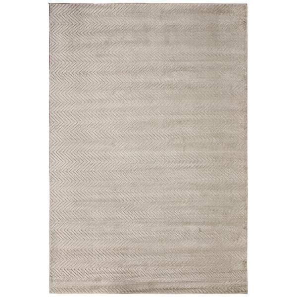 Loom Arya Ryu Silver/Silver Silk Rug (4'1 x 6'2) - 4' x 6'