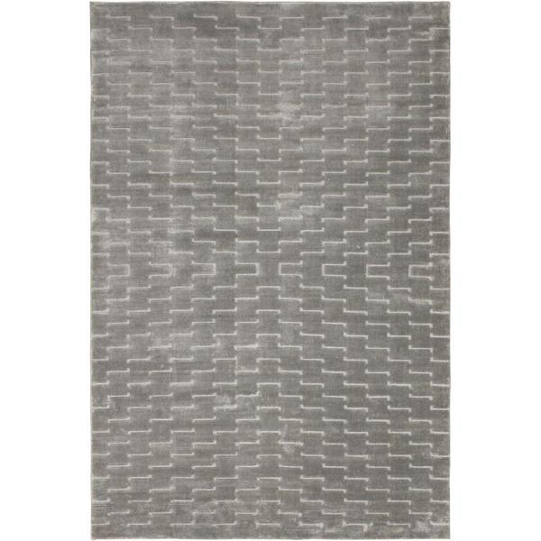 Loom Arya Fia Silver/Lt. Gray Silk Rug (3'11 x 5'11) - 4' x 6'