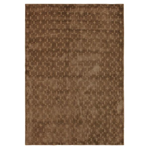 Loom Arya Celyn Brown/Lt. Brown Silk Rug (6'0 x 9'1) - 6' x 9'