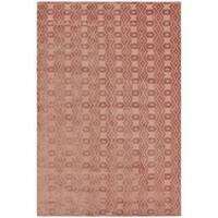 Loom Arya Alvar Pink/Pink Silk Rug (6'0 x 8'9) - 6' x 9'