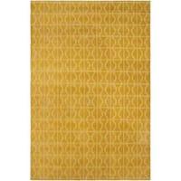Loom Arya Alizee Gold/Gold Silk Rug (6'0 x 9'0) - 6' x 9'